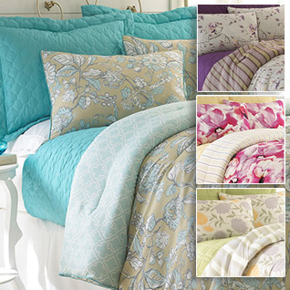 pacific coast 6piece reversible comforter and coverlet set in queen or king4 designs list price todayu0027s price - Oversized King Comforter