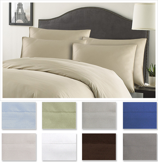 Luxury Hotel Collection 6pc Sheet Set (Includes 2 BONUS Pillow Cases) in Twin, Full, Queen, King or Cal. King!