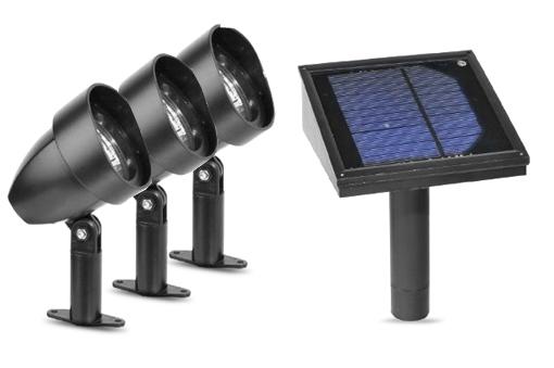 Solar Wall Lights Review : Paradise Garden Lighting Plastic Solar Spotlight LED Kit & Remote Solar Panel eBay