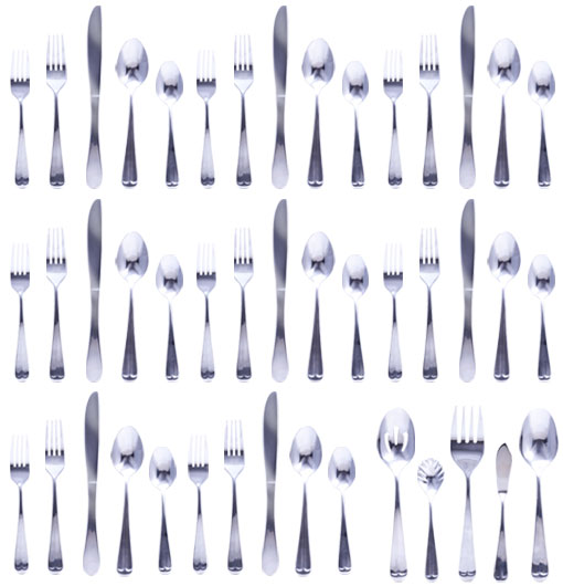 45 Pc Flatware Set