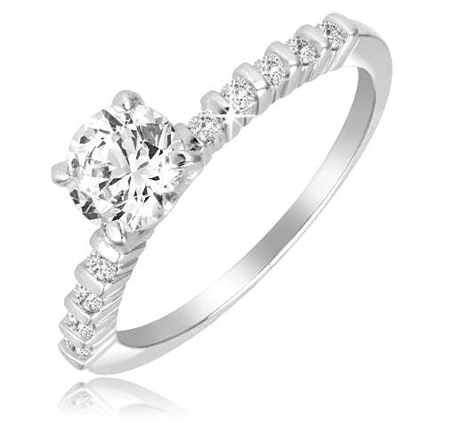 1 Ct Engagement Ring - Size 8