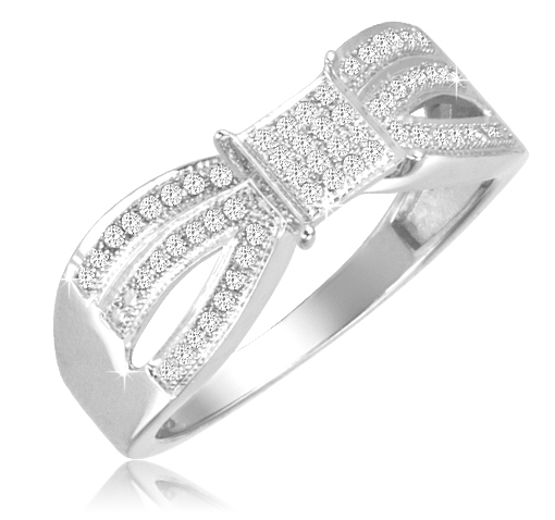 1/4 Ct Diamond Ring - Size 6