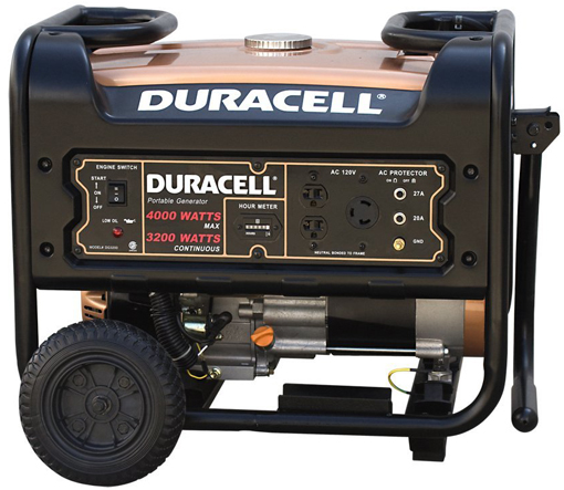 Duracell 3,200 Watt 7 HP OHV Gas Powered Portable Continuous Generator w/Electric Start Button!