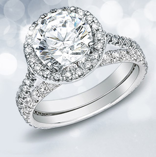 1 Carat Certified Diamond 14K White Gold Bridal Ring Set!