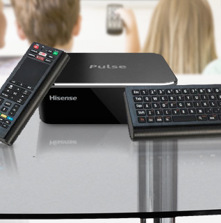 Hisense Pulse HD Streaming Media Player w/ Google TV & Touchscreen Full Keyboard Remote!