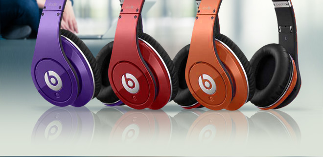 Beats by Dr. Dre Studio Headphones w/ In-Line Control & Mic Cable, Audio Adapter & Carrying Case - 3 Colors!