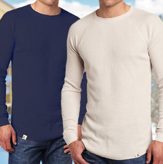 Seven Apparel Men's 100% Cotton Thermal Crew Shirt Choice of 8 Colors – Available in M-XXL!