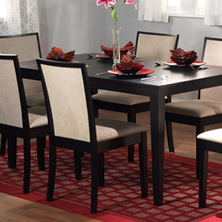 TMS Quebec Dining Set with 1 Table and 6 Chairs in Black!