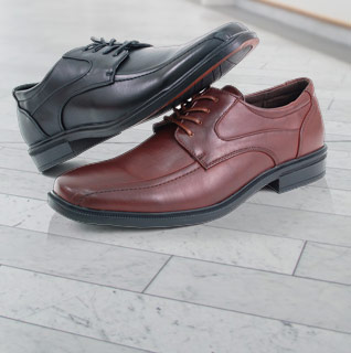 Alpine Swiss Men's Lace Up Oxfords in Black or Brown – Available in Sizes 7-12!