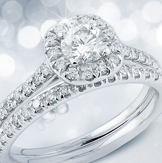 1 Carat Diamond 14K White Gold Certified Bridal Set!