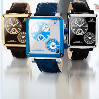 Choice: Joshua & Sons Dual Time Multi-Function Quartz Movement Black, Brown or Blue Leather Strap Men's Watch!
