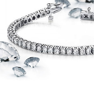 3 Carat Diamond 14K White Gold Certified Tennis Bracelet!