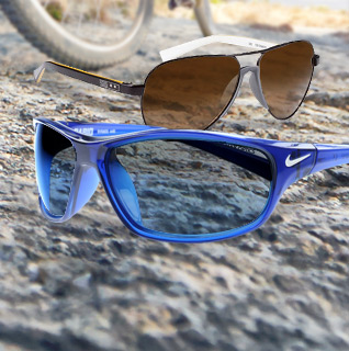 Your Choice: Nike Rabid or Vintage Unisex Sunglasses with 100% UV Protection and Authentic Nike Case!