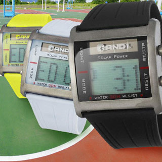 AND1 Sports Solar Alarm Rotate Chronograph Digital Display Japan Movement Silicone Strap Men's Watch!