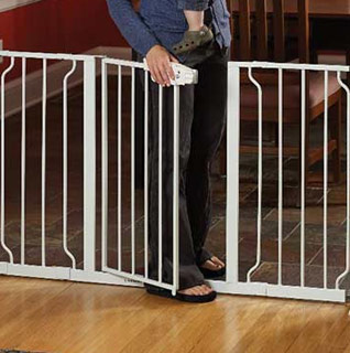 Regalo Baby Extra-Wide or Extra-Wide WideSpan Safety Gate w/Walk-Through Door & Lever Handle!