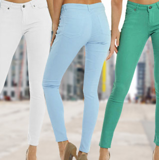Hey Jeans Cotton Denim Jeans for Ladies in Assorted Colors – Sizes S-XL!