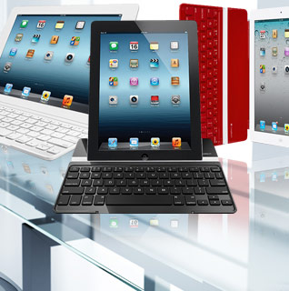 Logitech Ultrathin Bluetooth Keyboard, Cover & Stand for iPad 2, 3rd & 4th Generation w/ Clip and Go Design!