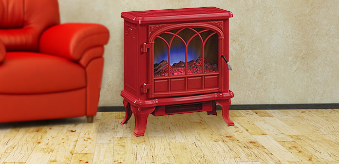 Duraflame 4,600 BTU Electric Stove Heater – Heats Up To 400 Sq. Ft., Realistic Flame Effect & 4 Color Choices!