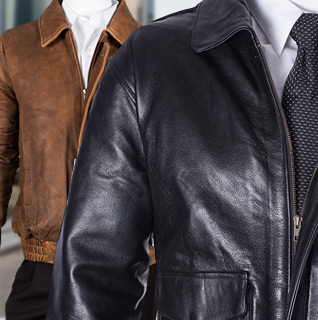Canyon Outback Men's Full Grain Leather Bomber Jacket in Black or Brown – Available in S-4XLT!
