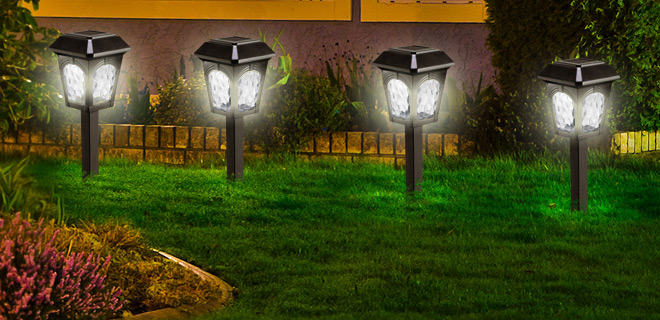 6-Piece Set: Westinghouse Grafton Solar Landscaping LED Lights w/ Automatic Darkness Sensor!
