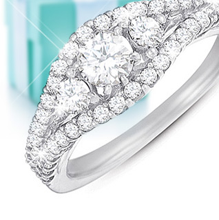 1 Carat Certified Diamond 14K White Gold Anniversary Ring!