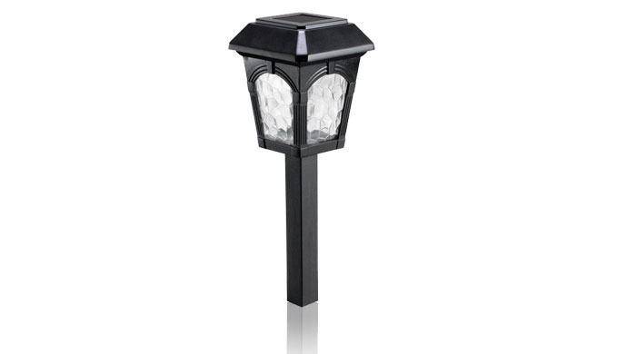 westinghouse 782006 08whw 6 piece grafton solar landscaping led lights with a. Black Bedroom Furniture Sets. Home Design Ideas