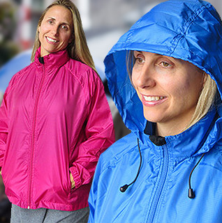35 Below Lightweight Rain Coat for Ladies' in Berry or Blue – Sizes S-XXL!