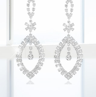 2 Carat Cubic Zirconia Chandelier Tear Drop Earrings!