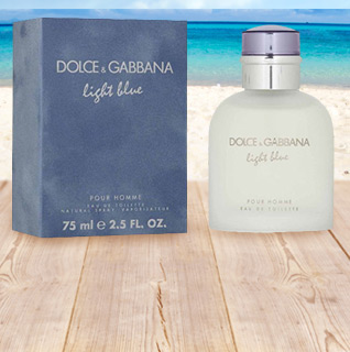 Light Blue by Dolce & Gabbana Eau De Toilette 2.5 Ounce Men's Spray!