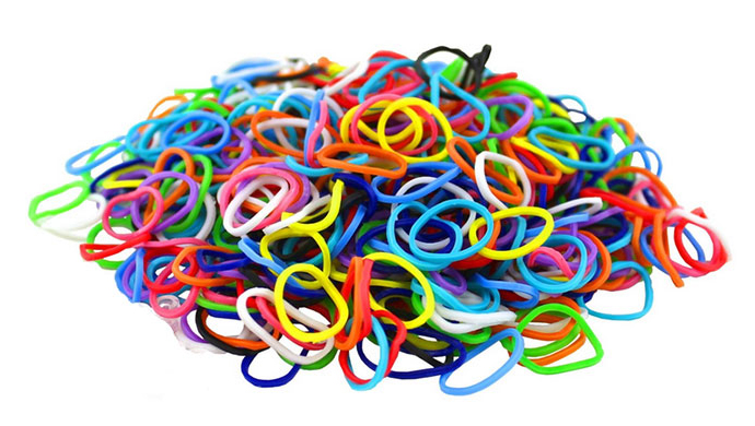 2400 Colorful Loom Bands for $7.99