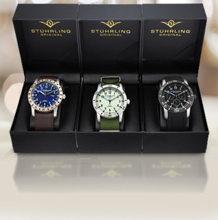 1SaleADay Holiday Gift Guides: Stuhrling 3pk: Men's Watch Gift Set ...