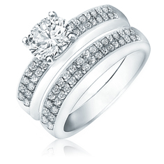 1 Ct Diamond Bridal Set