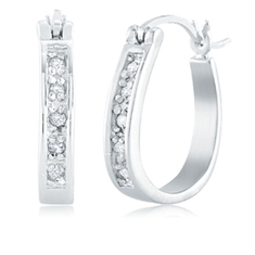 1/10 Ct Diamond Hoops