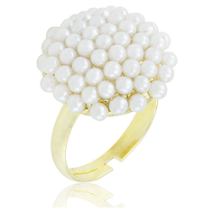 Fashion Pearl Cluster Ring