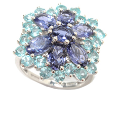 3.50 Ct Gem Flower Ring