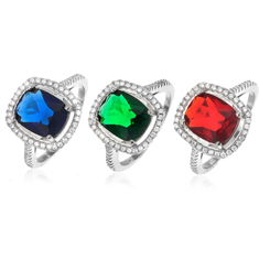 Quad Cut Gemstone Ring