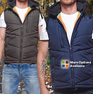 Distortion Quilted Nylon Vest for Men