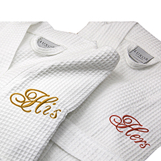 100% Egyptian Cotton Spa Robe