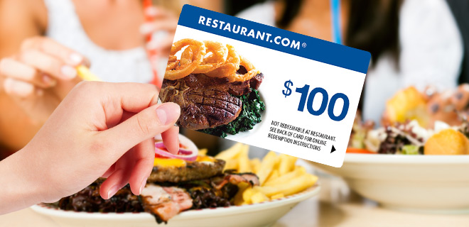 1 Sale A Day Daily Deal: restaurant.com $100 gift card for only $19.99 |
