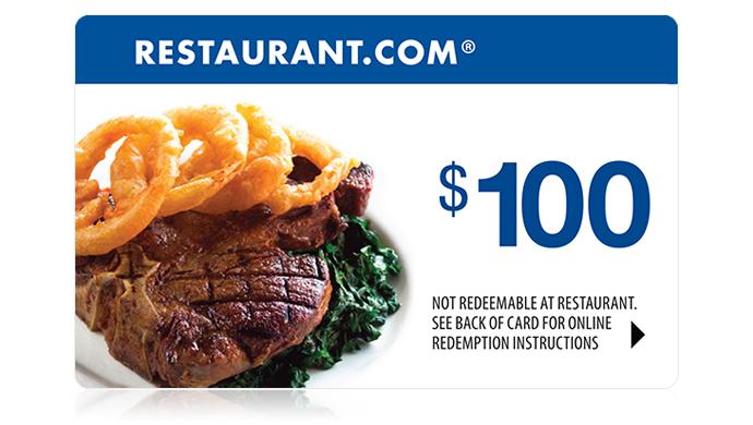Deals Restaurantcom 100 Gift Card 1999 Deals