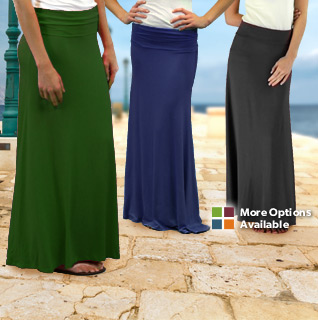 Kupcake Soft & Comfortable Maxi Skirt for Ladies in Choice of Six Colors – Sizes S-L!