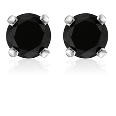 2 Ct Black Spinel Studs