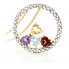 1 Ct Gemstone Pendant