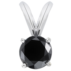 3/4 Ct Black Spinel Pendant