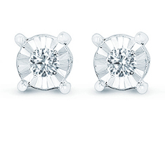 0.02 Ct Diamond Earrings!