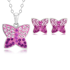 Swarovski Butterfly Set