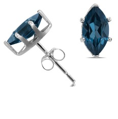 1.40 Ct Topaz Earrings