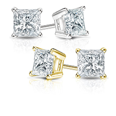 1Ctw I-I2 Diamond Cut Stud