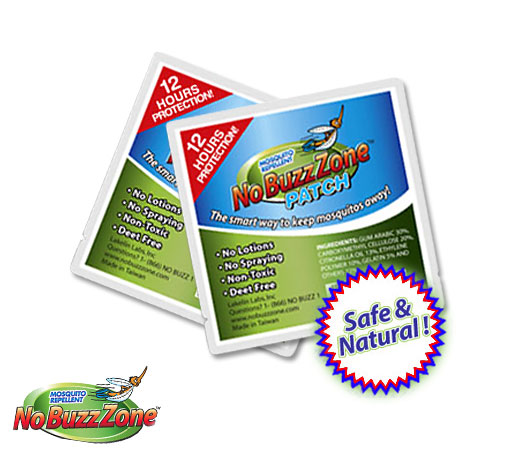 Free + Free Shipping No BuzzZone Mosquito Repellent Patches No-buzz-zone-patch