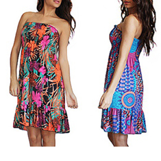 D & B Style Ruched Tube Dress
